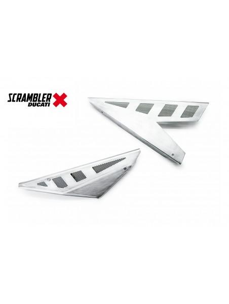 Fianchetti in alluminio naturale per sella Slim Ducati Scrambler